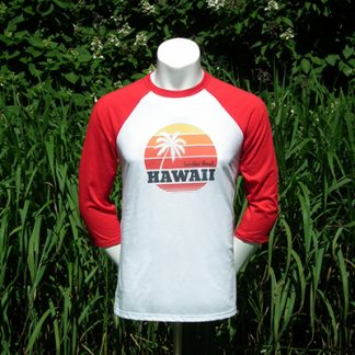T-shirt baseball Hawaii pour hommes